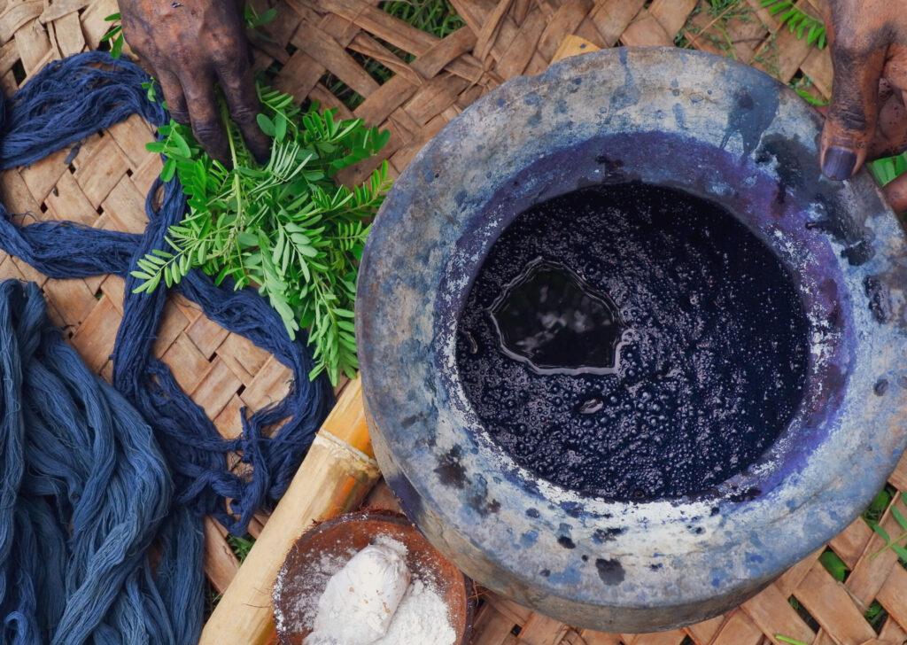 natural dyeing - indigo blue