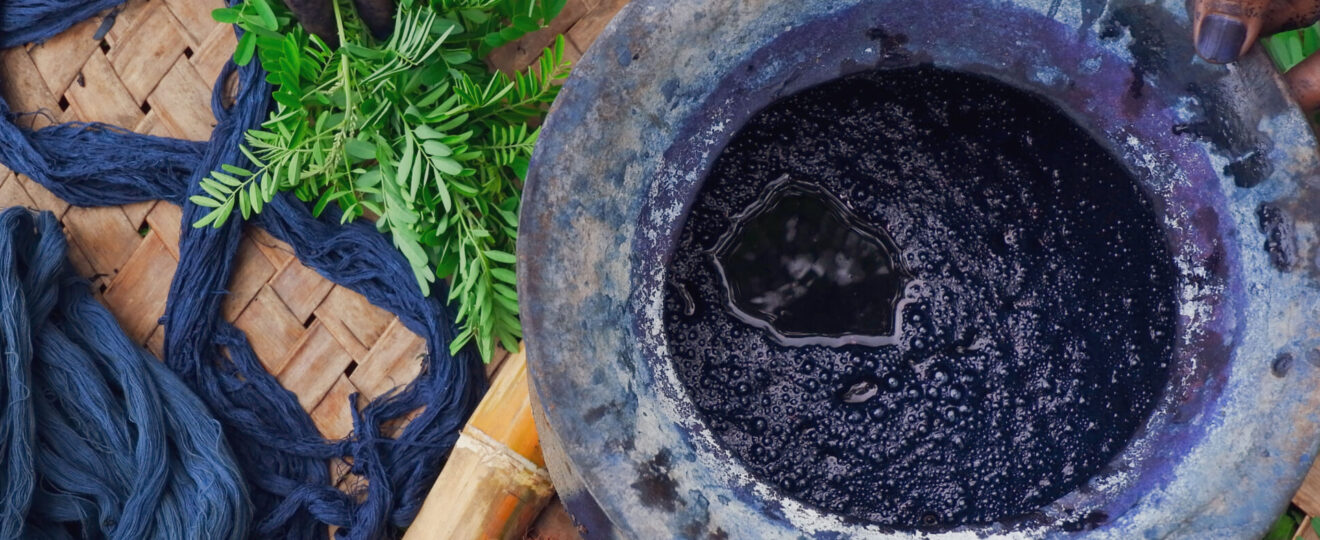 natural dyeing - indigo blue